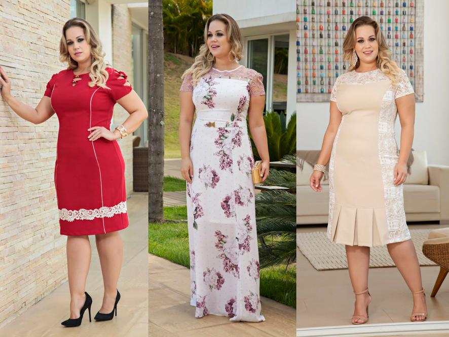Vestidos plus size moda evangélica