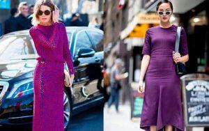 Vestido ultra violeta Pantone