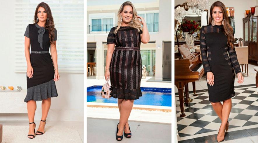Look Preto Básico Vestido e Plus Size by Sophi Moda Evangélica