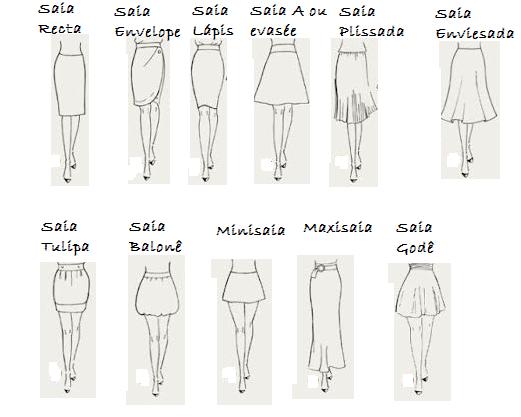 tipos de saia moda evangélica