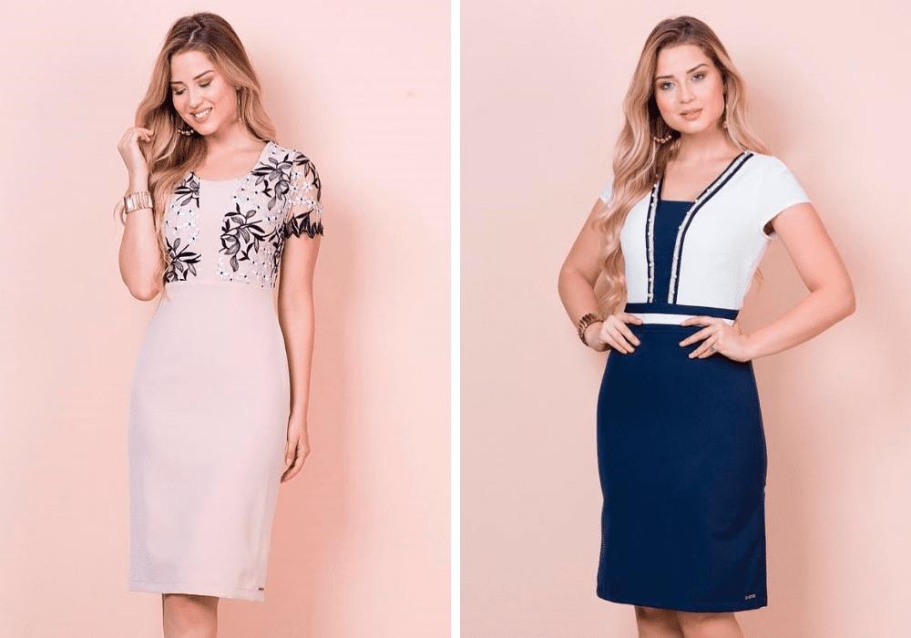 Saia e blusa Kauly moda evangelica